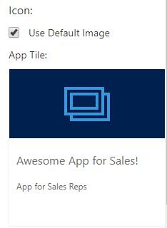 default app tile